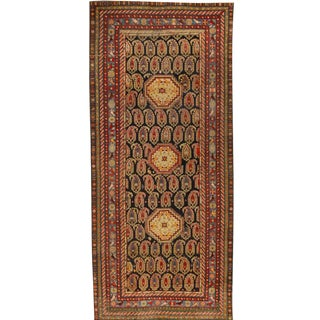 Antique 19th Century Caucasian Baku Khilla Rug For Sale