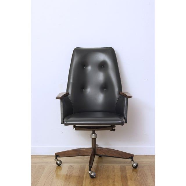 Mid Century Executive High Back Office Chair - Image 2 of 6