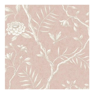 Lewis & Wood Jasper Peony Roan Botanic Style Wallpaper Sample For Sale