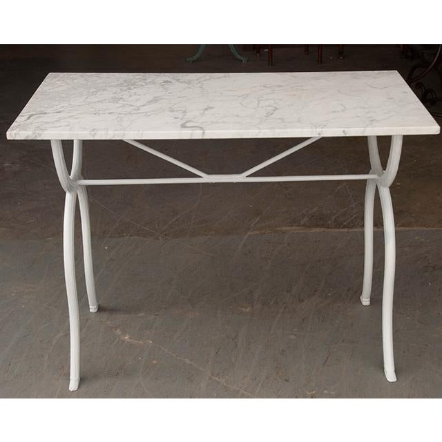 French 19th Century White Marble-Top Bistro Table For Sale - Image 12 of 13