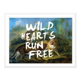 Image of Wild Hearts Run Free by Lara Fowler in White Framed Paper, Medium Art Print For Sale