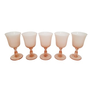 1960s Carlo Moretti Pink Cased Coupe Glasses - Set of 5 For Sale