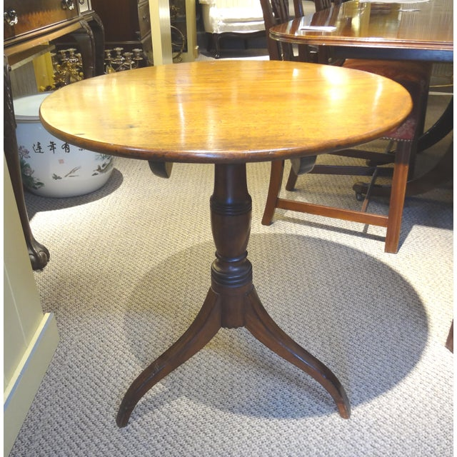 18th Century George III Tilt Top Tea Table For Sale - Image 13 of 13