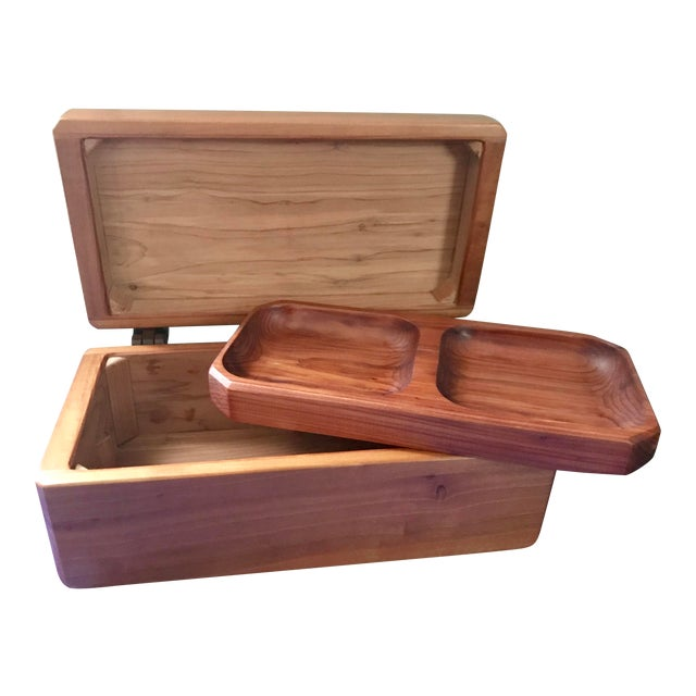 Minimalist Hand Made Wood Vanity Dresser Box For Sale