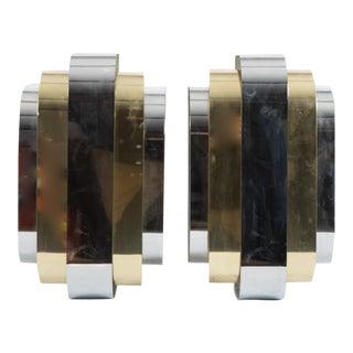 Lightolier Vintage Brass & Chrome Sconces - A Pair