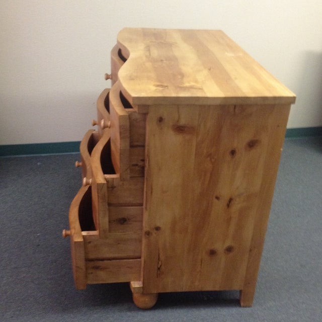 Large Curved Front Three Drawer Dresser - Image 5 of 9