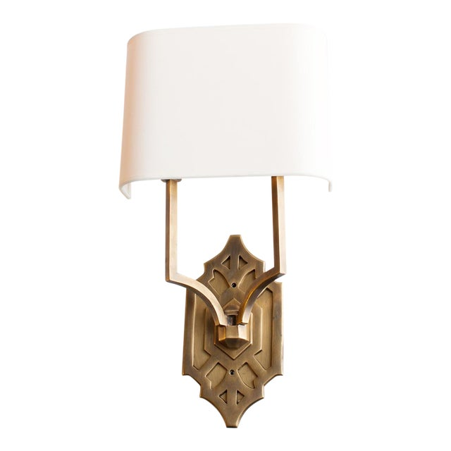 Thomas O'Brien Silhouette Fretwork Sconce for Visual Comfort For Sale