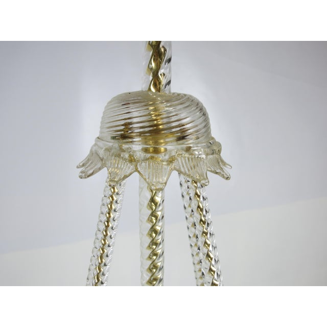 Gold Murano Glass and Gilt Bronze Chandelier by Barovier & Toso For Sale - Image 8 of 9