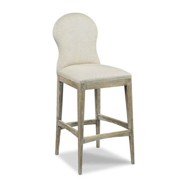 Traditional Modern Ruan Counter Stool For Sale - Image 3 of 3