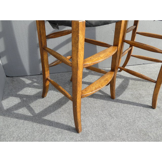 Minton Spidell French Country Black Bar Stools - Image 10 of 11