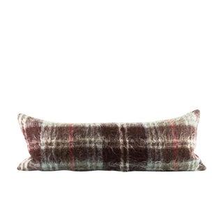 Brown Mohair Modern Wool Lumbar Pillow For Sale