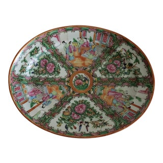 Rose Medallion Platter For Sale