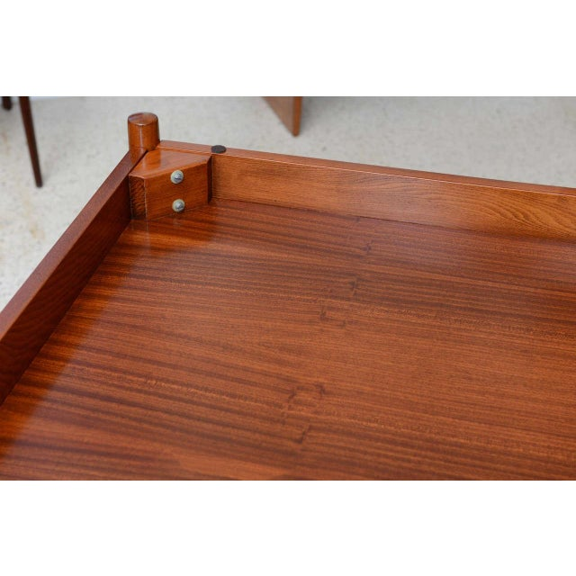 Italian Modern Walnut Game Table by Gio Ponti for Singer & Sons For Sale - Image 9 of 11