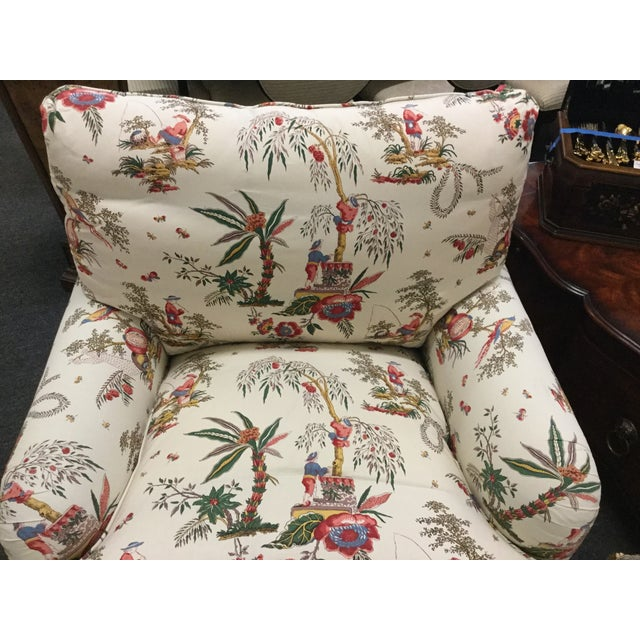 Vintage Toile Club Chairs - Pair - Image 3 of 7