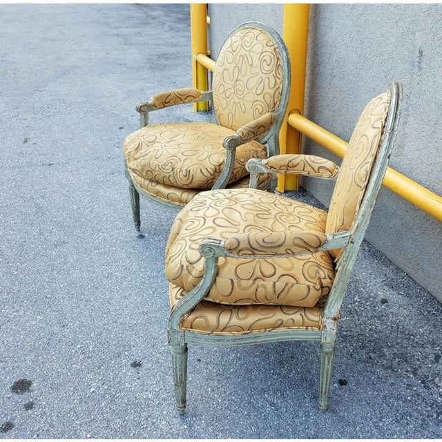 Mid 18th Century Antique French Louis XVI Medallion Chairs - A Pair For Sale - Image 4 of 13