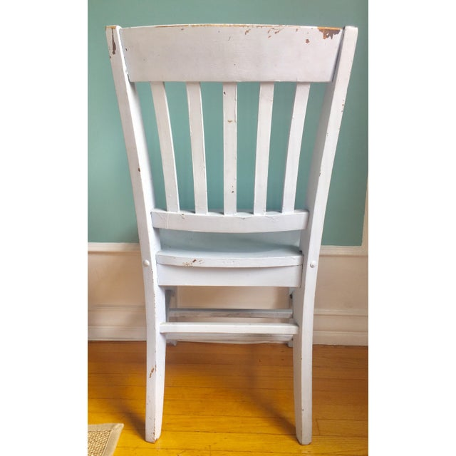 "Vintage Wooden ""Teacher's"" Desk Chair - Image 4 of 4"