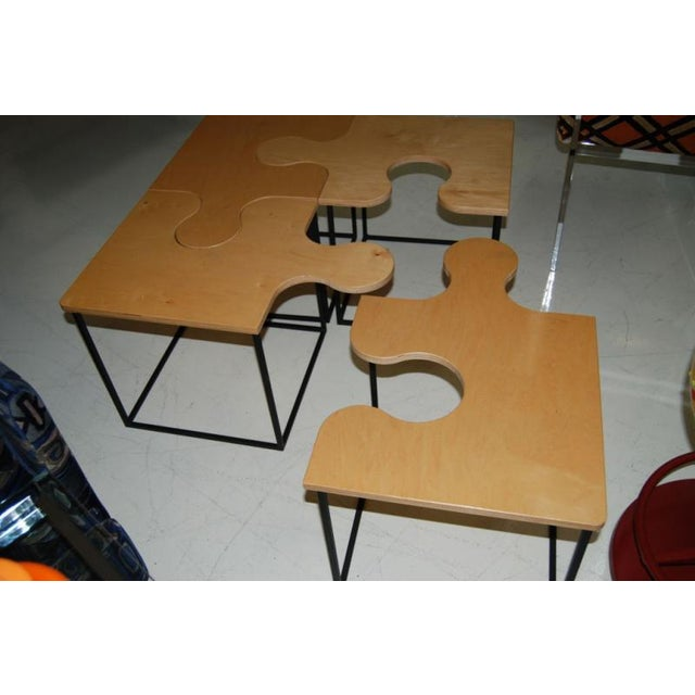 Mid-Century Modern 1980s Mid-Century Modern Maple Puzzle Coffee Table For Sale - Image 3 of 4
