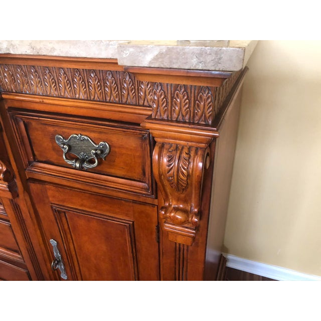 1990s 1990s Traditional Hickory White Wooden Credenza For Sale - Image 5 of 12