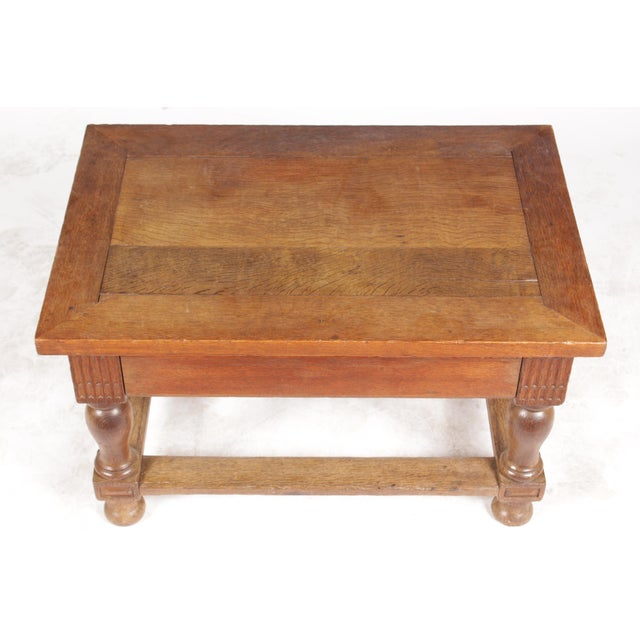 Mid-Century Tudor-Style Coffee Table For Sale - Image 5 of 11