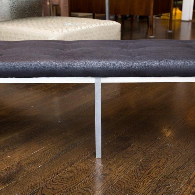 j.g. Furniture Brushed Aluminum Bench - Image 4 of 7