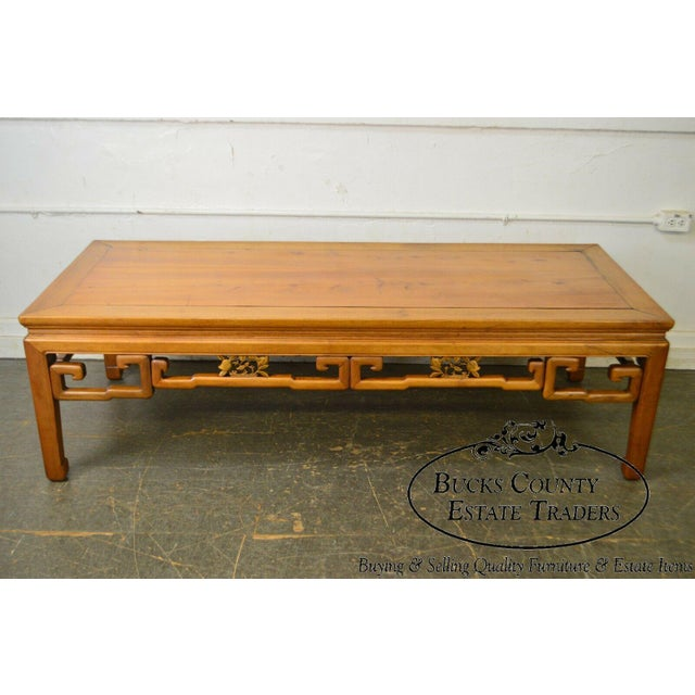 Coffee Antique Chinese Ming Style Large Hardwood Coffee Table For Sale - Image 8 of 13
