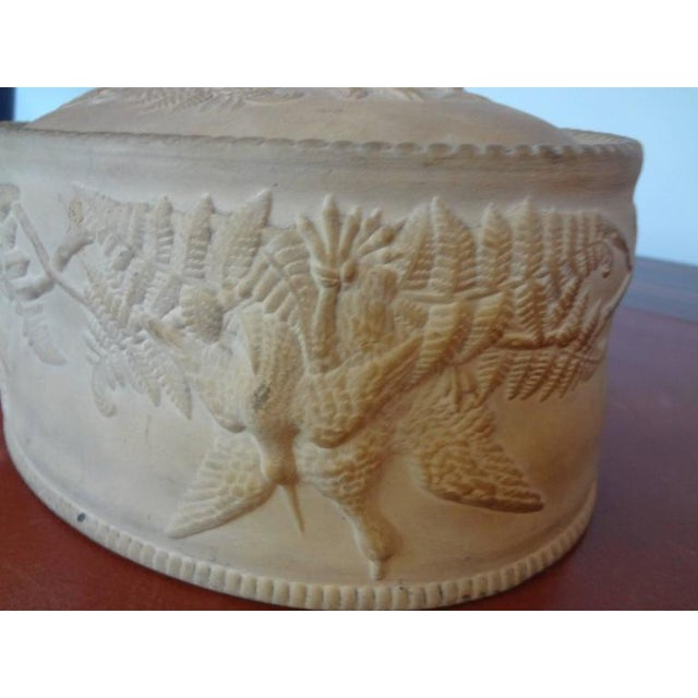 Ceramic Antique French Caneware Game Pie Dish For Sale - Image 7 of 11