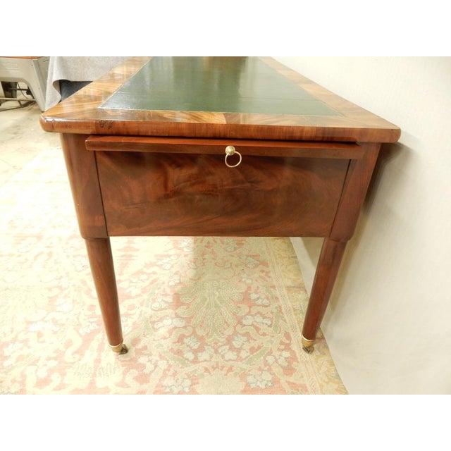 French Elegant Louis XVI 19th Century Walnut Desk For Sale - Image 3 of 11