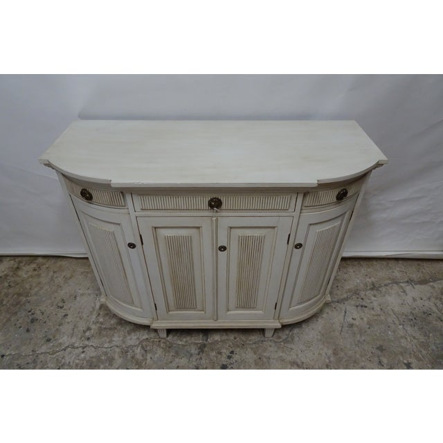 """This is a Swedish Gustavian Sideboard,,it has been restored and repainted with Milk Paints """"Oyster White"""""""