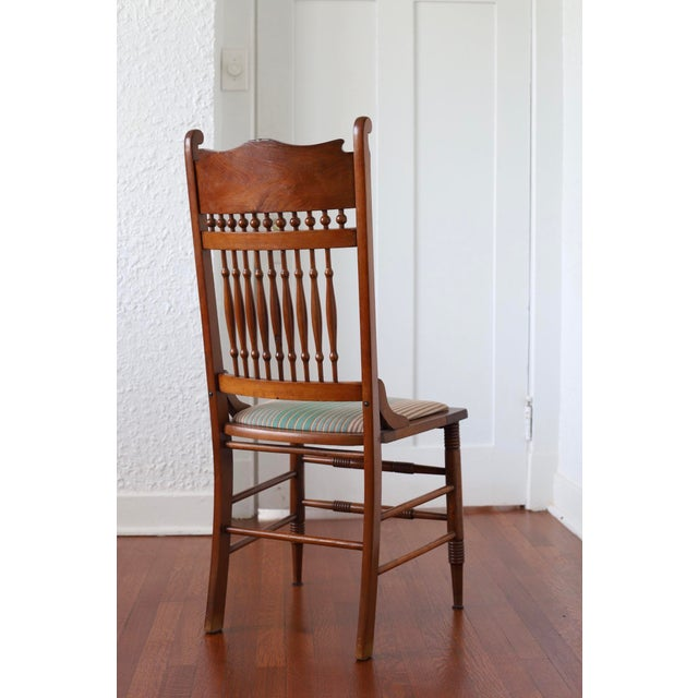 Wood Early 20th Century Antique Stomps-Burkhardt Walnut Dining Chairs - Set of 4 For Sale - Image 7 of 10