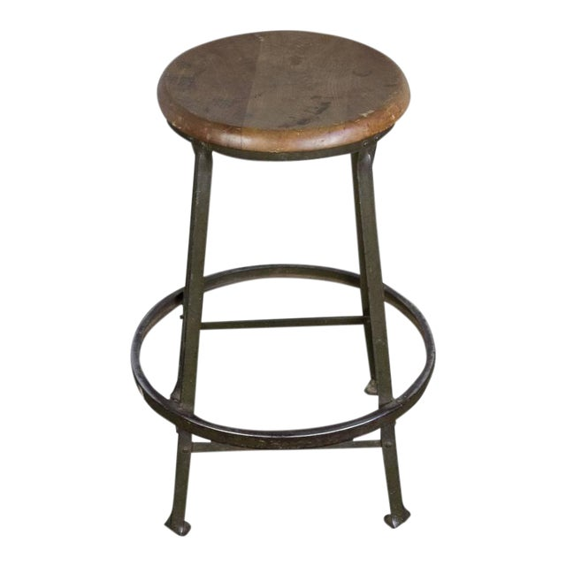 American 1930s Factory Stool - Image 1 of 8