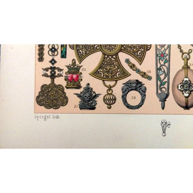 1888 Jewelry of 17th C. France Lithograph - Image 5 of 6