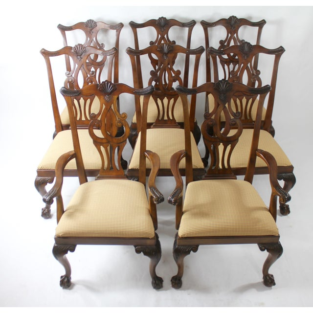 Chippendale Style Dining Chairs - Set of 8 For Sale - Image 11 of 11