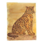 Leopard Painting in Old Master Colors by Cleo Plowden