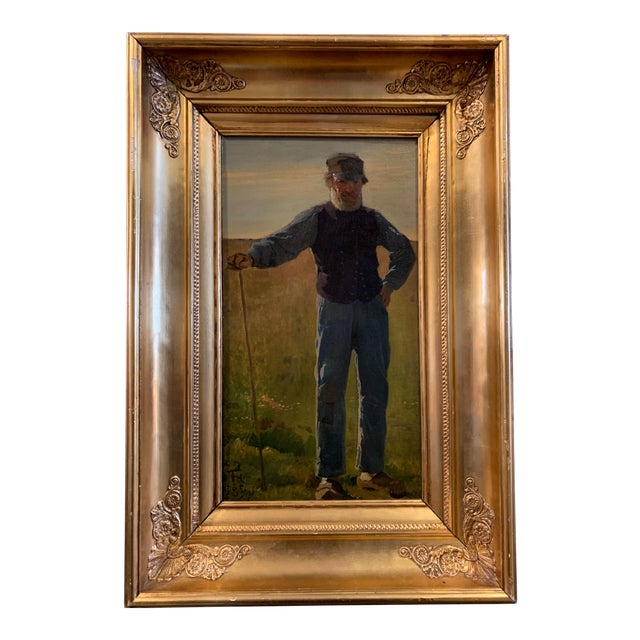 Frants Henningsen (1850-1908), Portrait of a Farmer For Sale