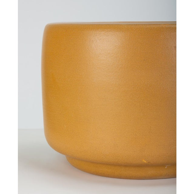 Yellow Cp-13 Tire Planter in Yellow Glaze by John Follis for Architectural Pottery For Sale - Image 8 of 10