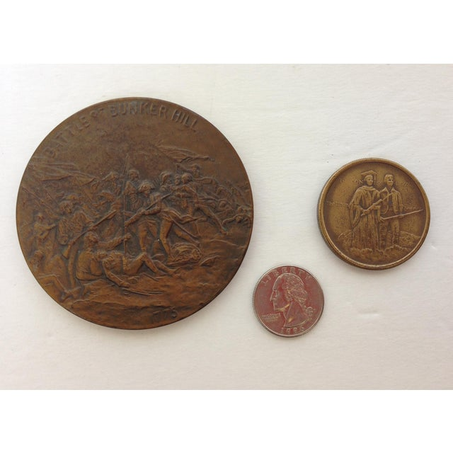 Vintage Medal Medallions & Paperweights - Set of 5 - Image 4 of 9