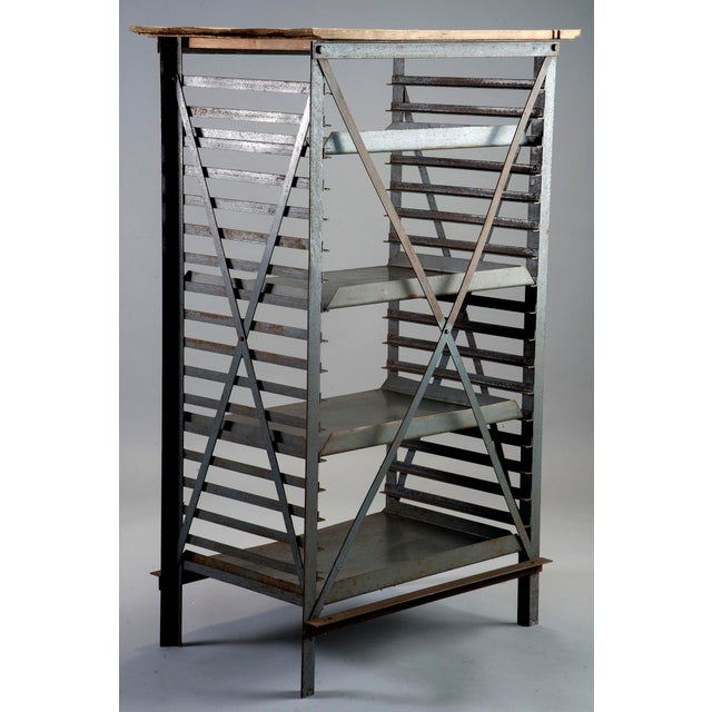 ndustrial Blue Metal Adjustable Shelf Unit - Image 5 of 8