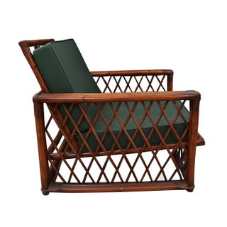 1970s Vintage Ficks Reed Bamboo Lounge Chair and Ottoman Preview