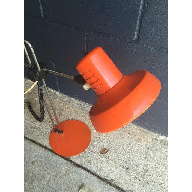 Mid-Century Orange Task Desk Lamp - Image 3 of 6