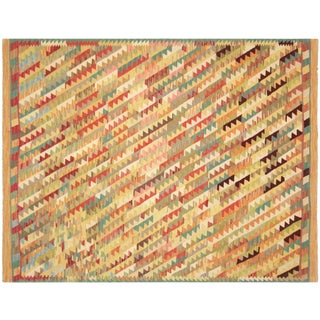 "Nalbandian - Contemporary Afghan Maimana Kilim - 6' X 7'9"" For Sale"