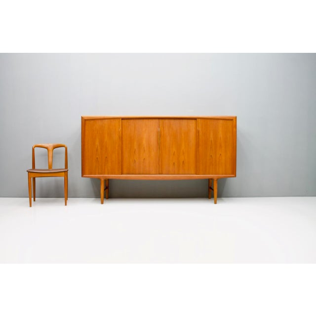 Brown Danish Teak Wood Sideboard by Axel Christensen for Aco Mobler 1960s For Sale - Image 8 of 8