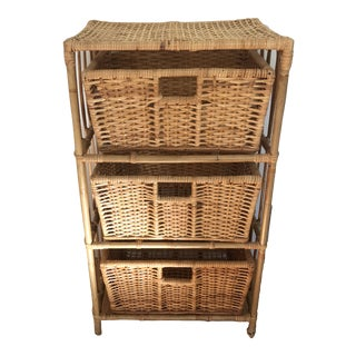Rattan Bamboo Storage Unit For Sale