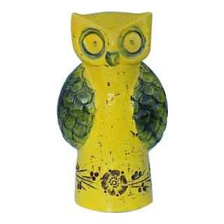Aldo Londi for Bitossi Yellow Owl For Sale
