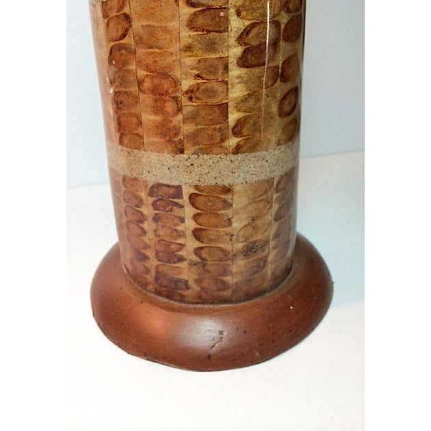 Handcrafted Mixed Media Pillar Candle Holders - a Pair - Image 3 of 6