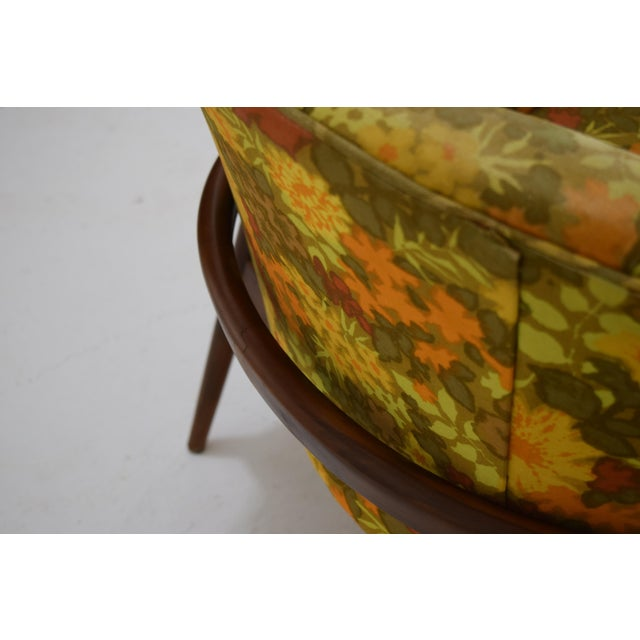 Barrel Back Tufted Floating Chair For Sale - Image 6 of 9