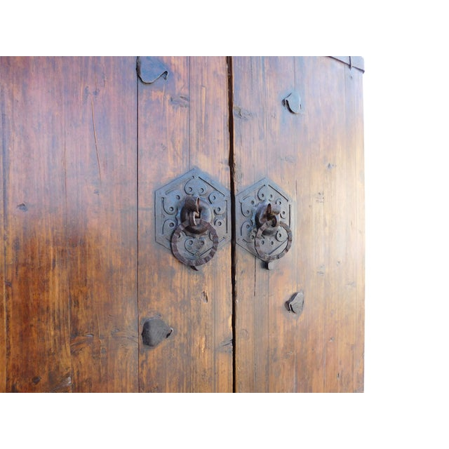 Asian Vintage Iron Hardware Door Gate Wall Panel For Sale - Image 3 of 6