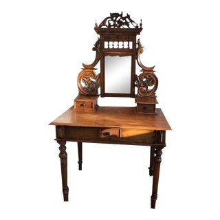 Antique Balinese Teak Dressing Table