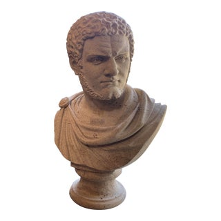 Italian Stone Bust of the Roman Emperor Caracalla For Sale