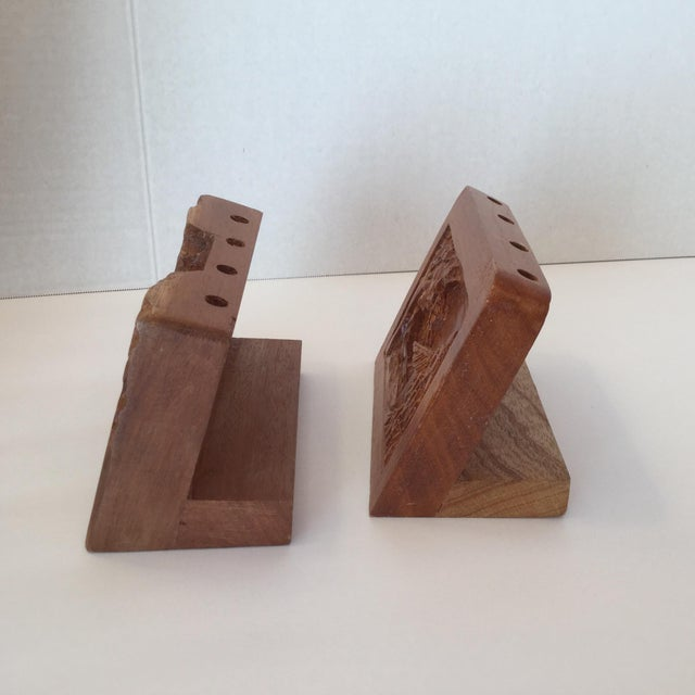 Hand Carved Wood Carvings - A Pair For Sale In Birmingham - Image 6 of 11