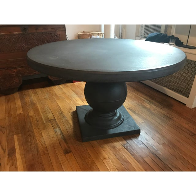Contemporary Grey Concrete Round Dining Table For Sale - Image 3 of 11